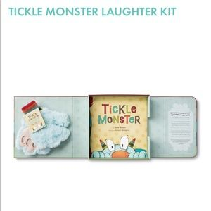 Tickle Monster Hardcover book w/gloves. Like new